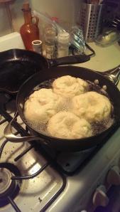 Boiling bagels!
